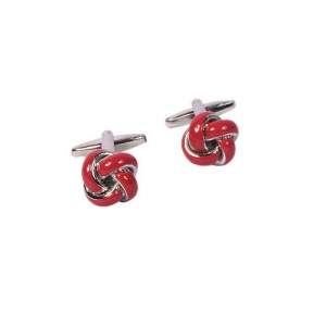 Alvaro Castagnino Red & Silver-Toned Cufflinks