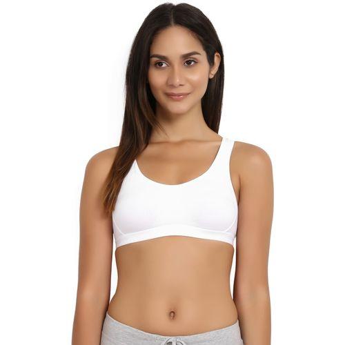 Jockey Women Sports Non Padded Bra(White)