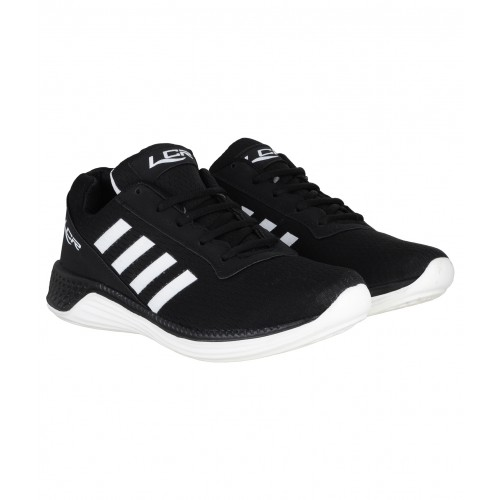 Lancer Black Solid Sports Shoes