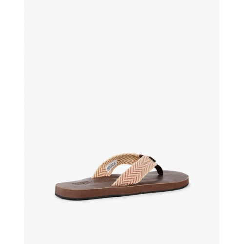 WOODLAND Flip-Flops with Chevron Patterned Thong Strap