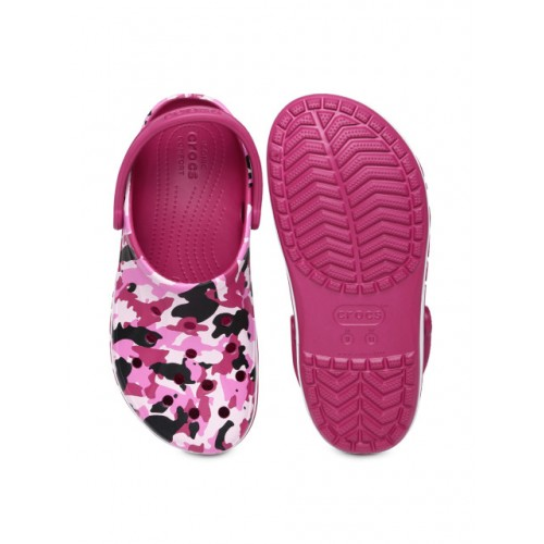 Buy Crocs Unisex Pink Camouflage Bayaband Printed Clogs Online Extraordinary Patterned Crocs