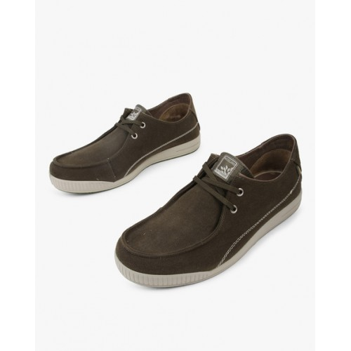 WOODLAND Panelled Lace-Up Casual Shoes