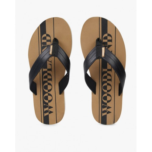 WOODLAND Printed Thong-Style Flip-Flops