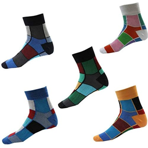 RC. ROYAL CLASS Multicolor Unisex Ankle Length Cotton Socks (Pack Of 5)