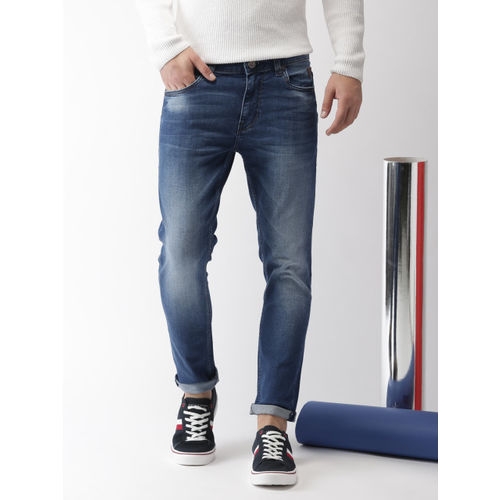 Harvard Blue Cotton Denim Slim Fit Casual Jeans