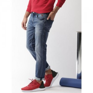 Harvard Men Blue Slim Tapered Fit Mid-Rise Clean Look Stretchable Jeans