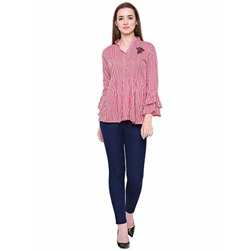 30c5f08d57267 ... Fashion205 Fashion Village Bell Sleeve Stripe Top for Women s Girls ...
