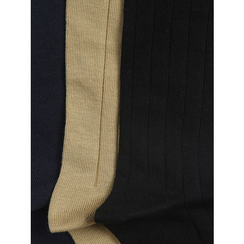 Peter England Men Set of 3 Calf-Length Assorted Socks
