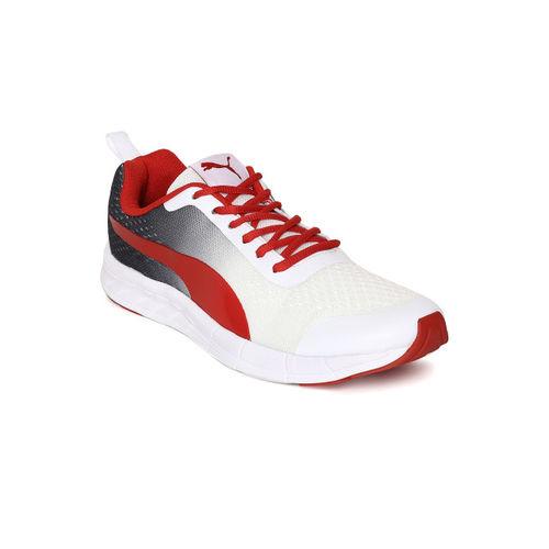 a7096988defe Buy Puma Men White   Red Feral Runner Running Shoes online