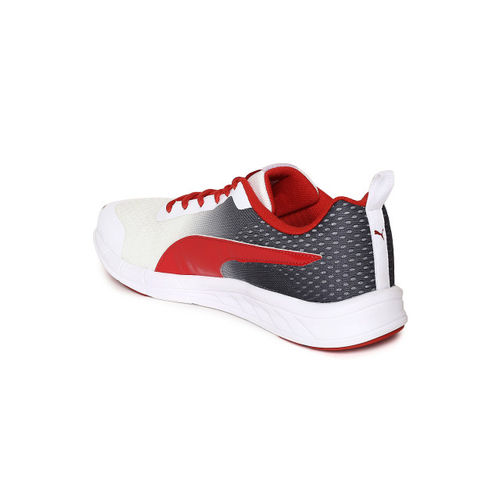 Puma Men White & Red Feral Runner Running Shoes