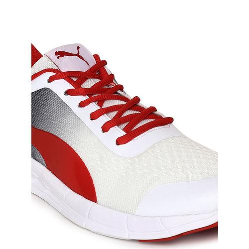 Puma Men White & Red Feral Runner Running Shoes