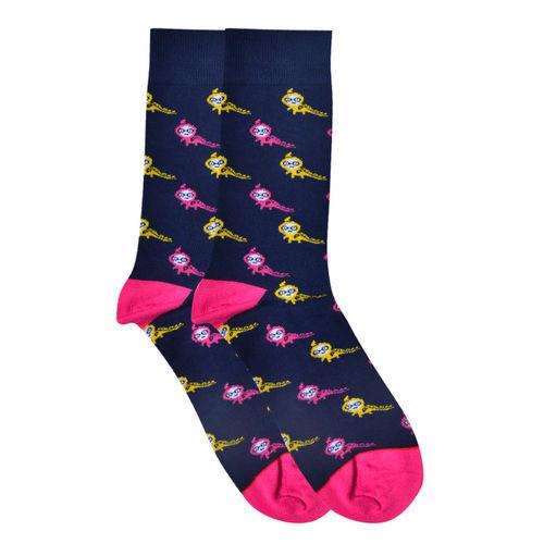 Soxytoes Men Navy Blue Ankle-Length Socks