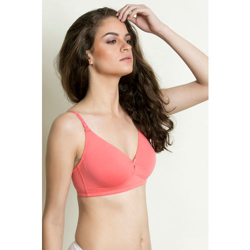 968fb2f82 Buy Zivame Double Layered Wirefree Bra - Peach online