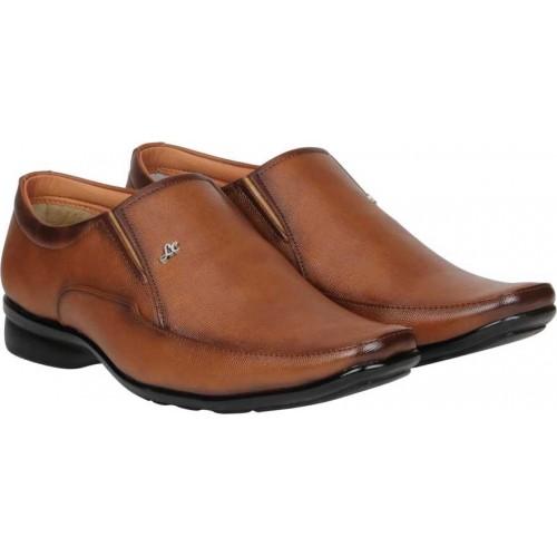 Kraasa Slip On leather Formal Shoes for men