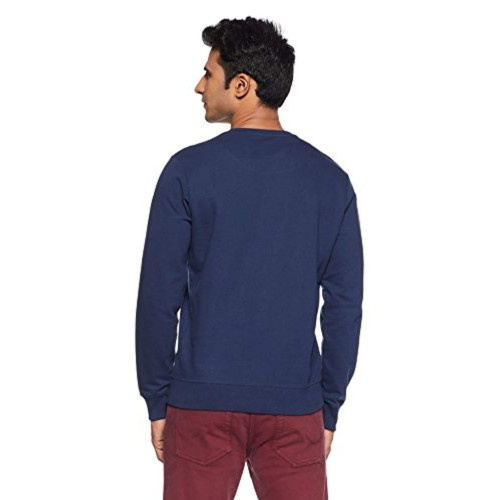 Pepe Jeans Blue Cotton Full Sleeve Round Neck Sweeter