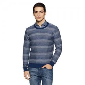 US Polo Association Grey Cotton Full Sleeve Round Neck Sweater