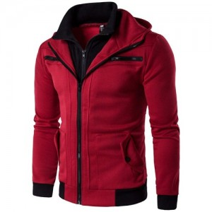 Binmer(TM)  Red Cotton Full Sleeve Casual Jacket