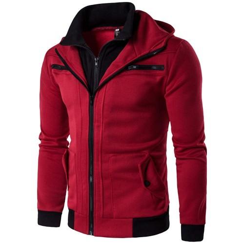 Binmer(TM)  Red Cotton Full Sleeve Casual Jacket