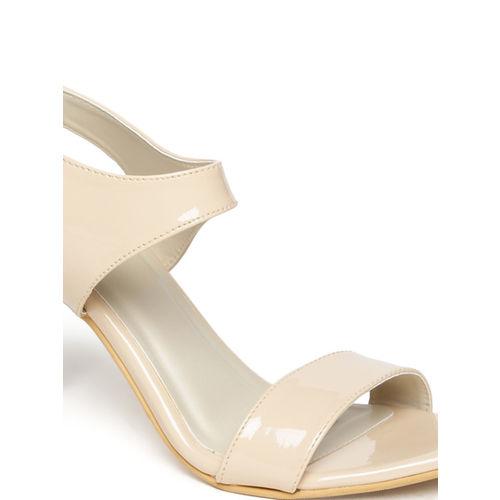 Monrow Women Skin Color-Coloured Heels