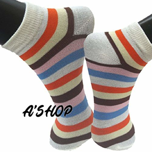 A'SHOP Prime Summer Soft Multi-Coloured Socks with Colourful Stripes All Over The Ankle Length Socks for Girls, Boys & Women for Daily use(Set of 3 Pairs)