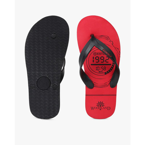 WOODLAND Graphic Print Thong-Style Flip-Flops