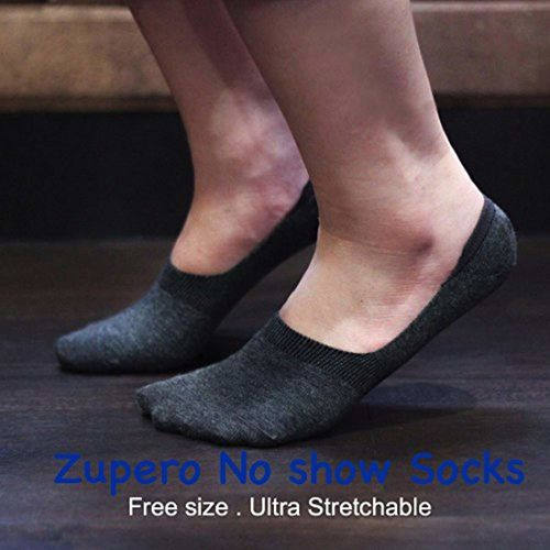 Zupero+ Men and Women (Unisex) Cotton Loafers no show Socks Mix Colours, Pack of 5 Free Size