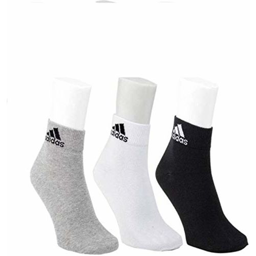 MARCELLO Men's Multi-Coloured Addidas Socks (Pack of 3)