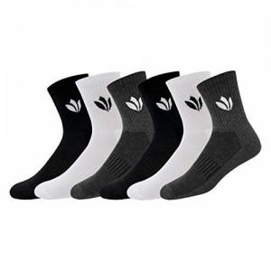 Fresh Feet Organic Cotton Odour Free Mid-Calf Socks - Value for Money Pack (6 Pairs)