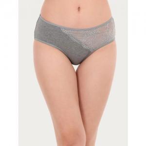 Clovia Women Grey Solid Hipster Briefs PN2725P05