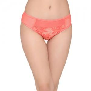 Clovia Women Coral Lace Self-Design Hipster Brief PN2676P16XL