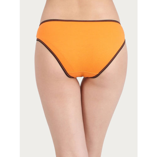 Clovia Women Orange Solid Bikini Briefs PN2557P16XL