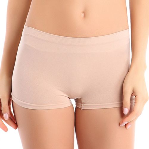 Talgo Women's Boy Short Beige Panty(Pack of 1)