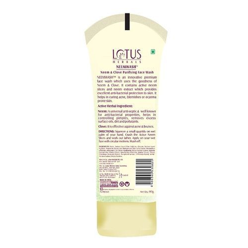 Lotus Herbals Neemwash Neem & Clove Purifying Face Wash