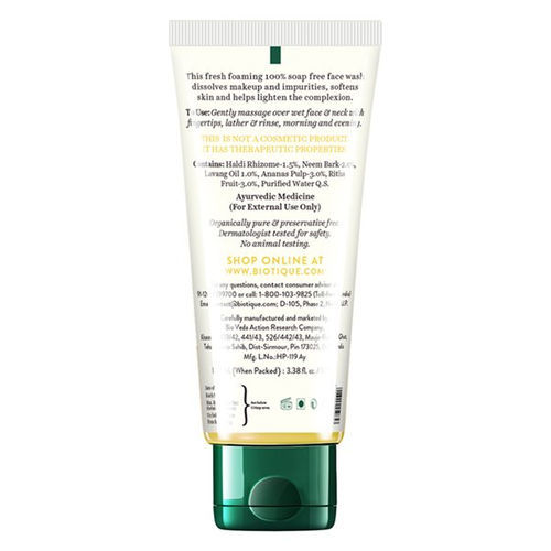 Biotique Bio Pineapple Oil Control Foaming Face Wash for Oily Skin Types