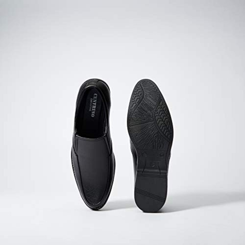 Centrino Black Synthetic Slip On Formal Shoes