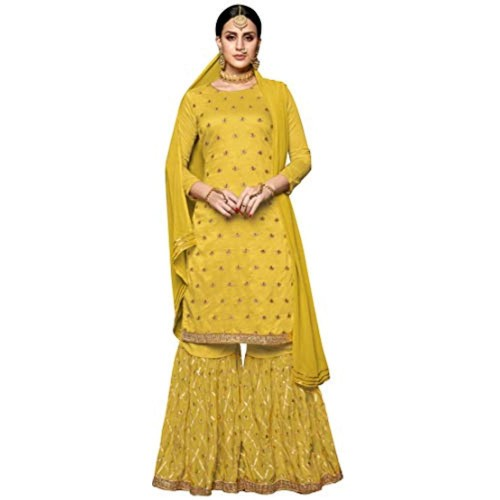 Buy Generic Yellow Silk Embroidered Lace Work Salwar Suit online ... 3e22b2ce8c2