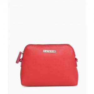 Caprese Women Casual Red PU Sling Bag