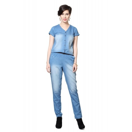 e01b3d2712e Bare Denim Pantaloons Blue Jumpsuit  Bare Denim Pantaloons Blue Jumpsuit ...