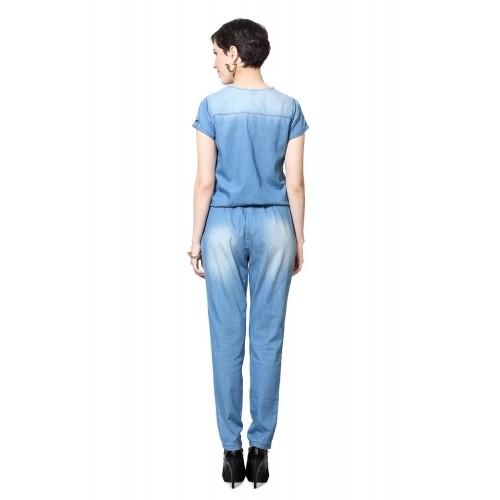 1f27547c190 Buy Bare Denim Pantaloons Blue Jumpsuit online