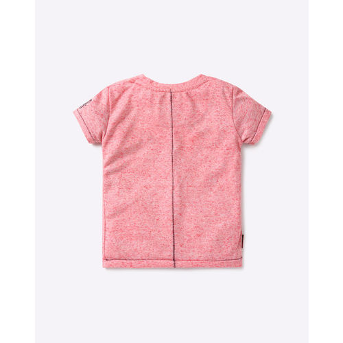 GINI & JONY Printed Textured Crew-Neck T-shirt