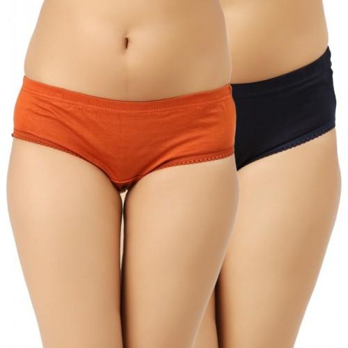 Vaishma Hipster Dark Blue, Orange Panty(Pack of 2)