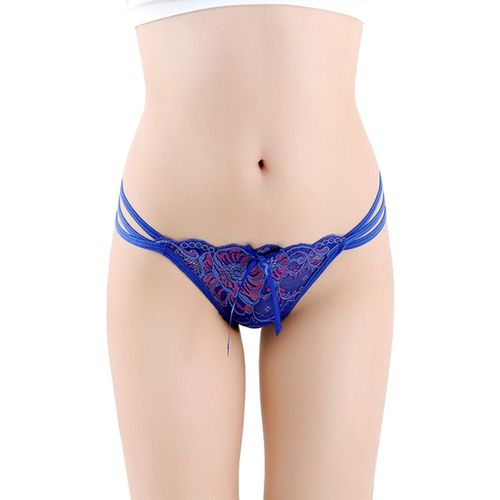 DealSeven Fashion Women Thong Blue Panty(Pack of 1)