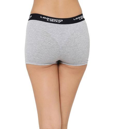 Leading Lady Women's Boy Short Grey Panty(Pack of 3)