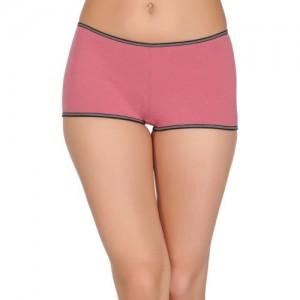 Clovia Women's Boy Short Pink Panty(Pack of 1)