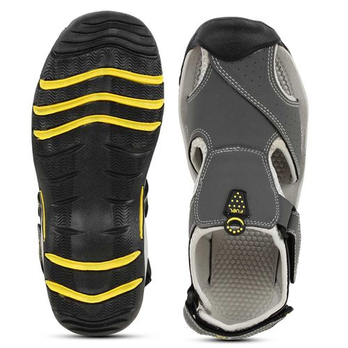 Fuel FUEL Men's Boy's Fashionable Comfortable Velcro Closure Solid Casual Floaters Sandals