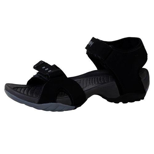 Zappy Men Black Grey Floater Sandals