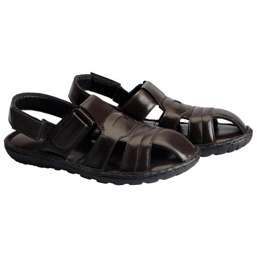 ecbfd73e2c2c Buy Fausto Men s Brown Leather Outdoor Floaters and Sandals online ...