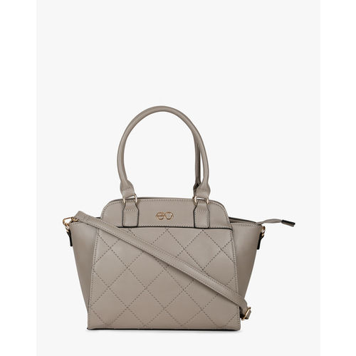 Quilted Handbag with Detachable Sling Strap