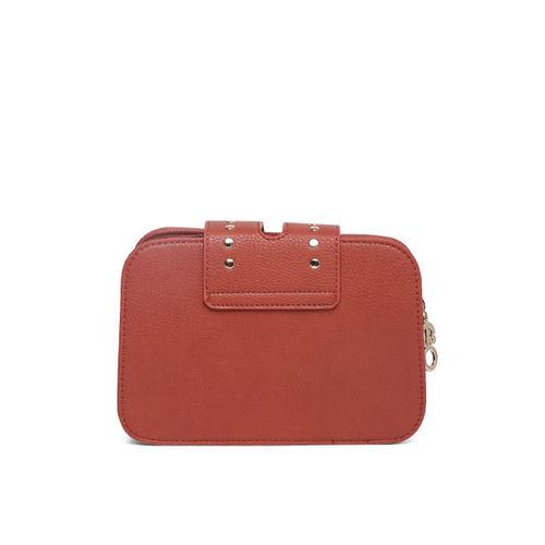 E2O Orange Polyurethane Embellished Sling Bag
