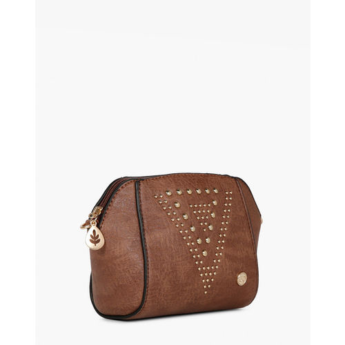 E20 Brown Textured Sling Bag with Detachable Strap